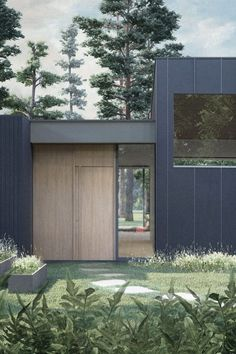 A single storey villa in Höllviken, southern Skåne. The L-shape of the house forms a protected courtyard, which contains a. Small Modern Home, Modern Homes, Chief Architect, Seaside Resort, Swedish House, Round House, Prefab Homes, Amazing Architecture, Villa