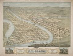 Bird's-Eye View of the City of Eau Claire, Wisconsin | by Wisconsin Historical Images