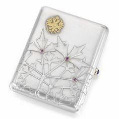 A Fabergé jewelled silver cigarette case, Moscow, 1899-1900. Sold @ Sotheby's for more than $30,000 (estimated at about $10,000)