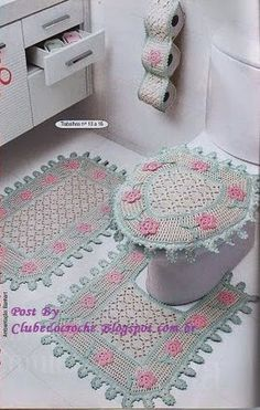 Clube do Crochê: Jogo de Banheiro (com gráfico)