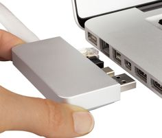 Attach all of your peripherals and power to your Macbook with one simple connection.