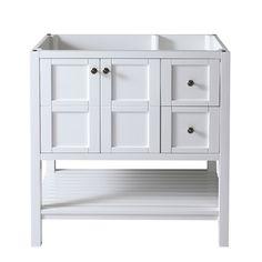 Virtu USA Winterfell 36-inch White Bathroom Cabinet - Overstock™ Shopping - Great Deals on VIRTU Bathroom Vanities