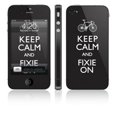 Some of the coolest skins I have ever seen http://kinleaves.com/store/keep-calm-fixie-on-vinyl-skin-for-apple-iphone-4
