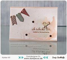 "Glückwunschkarte | congrats card - Dani Peuss, Kartenkit März 2015, My Mind's Eye ""On Trend"", Distress Inks"