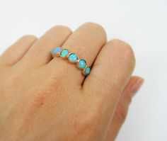 Gold ring. Opal gold ring. opal jewelry gold by STarLighTstudiO3