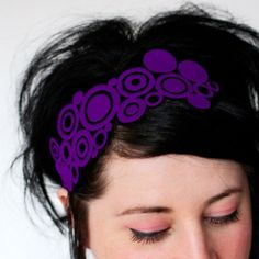 Purple headband!