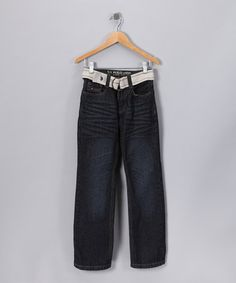 U.S. POLO ASSOC Khaki & Denim Distressed Jeans - Boys by Rule the School: Boys' Apparel on #zulily today!