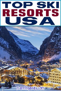 Are you thinking about going on a ski trip? Looking to find the perfect ski resorts in the US? There are so many amazing places to ski in the USA. From the east coast to the Rocky Mountains and beyond, this post has a little something for everyone! | Planning Away @planningaway #americanskitrips #bestskitripsintheusa #parkcityskitrip #minnesottaskiresorts #steamboatspringsskiresorts #coloradoskiresorts #wyomingskiresorts #montanaskiresorts #idahoskitrips #tahoeskiresorts #planningaway Top Travel Destinations, Best Places To Travel, Travel Usa, Free Travel, Luxury Travel, Tahoe Ski Resorts, Colorado Ski Resorts, Colorado Springs, Sky Resort