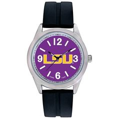 Men's Game Time LSU Tigers Varsity Watch (155 ILS) ❤ liked on Polyvore featuring men's fashion, men's jewelry, men's watches, black, mens watches jewelry and mens watches