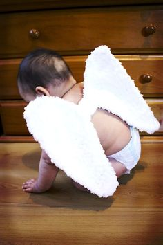 12 to 24m Christmas Angel Wings White Angel Wings - Fairy Wings Baby Crochet Angel Christmas Costume Baby Dress Up Photo Prop. $26.00, via Etsy.