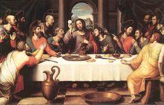 Thema, schilderij met het laatste avondmaal als thema