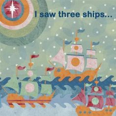 """Online Christmas Cards UK:- """"I Saw Three Ships"""" by Lorna Siviter. Published by Art Cove Cards."""