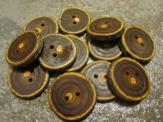12 NON Poisonous Sumac Tree Branch Buttons. by PymatuningCrafts, $7.20