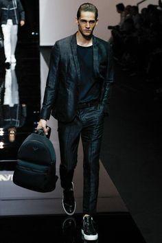 Emporio Armani Spring 2015 Menswear Collection Slideshow on Style.com