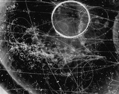 """rarely-important: """" scanzen: """" Particle Tracks On Film from the Fermilab Bubble Chamber. """" I love you, Science Graphics. Let me have your babies. """" Just to clarify, a particle bubble chamber is very, very different from Willy Wonka's bubble chamber: Constellation, Sagittarius Moon, Text Frame, Overlays Picsart, Creative Colour, Character Aesthetic, Sacred Geometry, Creative Inspiration, Bubbles"""