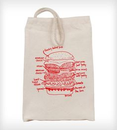 Burger Diagram Reusable Lunch Bag by Girls Can Tell on Scoutmob Shoppe