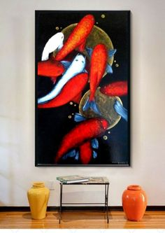 Koi (2016) Edit  Acrylic painting by Olena Granovska
