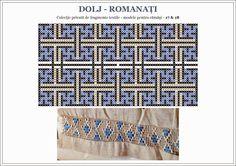 Semne Cusute: Romanian traditional motifs - OLTENIA, Dolj & Romanati Bead Crafts, Diy And Crafts, Charts And Graphs, Folk Embroidery, Hama Beads, Textile Art, Beading Patterns, Pixel Art, Folk Art