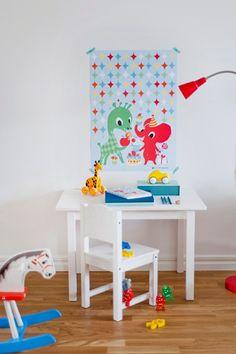 Poster Littlephant Blue