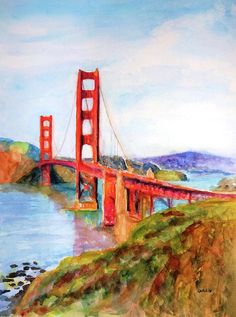Art Prints on Paper, Canvas, Metal, Acrylic & Wood. Shop a variety of products for your Home Décor, Lifestyle & Gifts. Unique Watercolor Paintings by artist Carlin Blahnik of CarlinArtWatercolor. Buy Prints, Framed Prints, Canvas Prints, Canvas Art, Golden Gate Bridge Painting, Puente Golden Gate, Contemporary Art Prints, Watercolor Paintings, Original Paintings