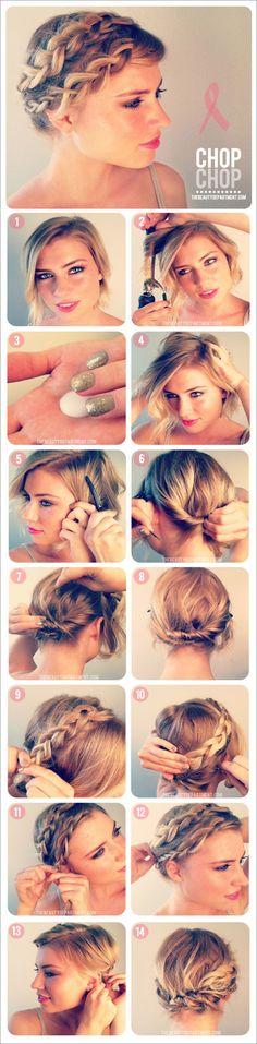 Braiding Short Hair   Beauty Ideas