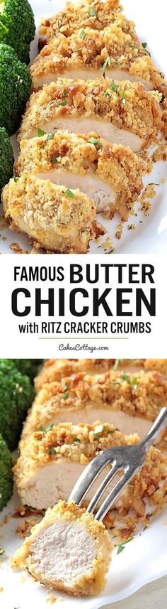 Crispy, juicy, moist, tender and incredibly tasty butter chicken. with only 6 ingredients and less than 10 minutes of preparation time. chicken recipes dinners,cooking and recipes New Recipes, Dinner Recipes, Cooking Recipes, Favorite Recipes, Healthy Recipes, Delicious Recipes, Crockpot Recipes, Soup Recipes, Meat Recipes