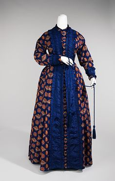 Dressing Gown- wool and silk. The Met Museum