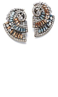 Mango SS13 Swirl Earrings