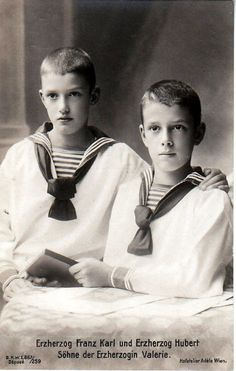 Archduke Franz Karl and Archduke Hubert Salvator of Austria; sons of Archduchess Marie Valerie of Austria.
