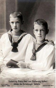 Archduke Franz Karl and Archduke Hubert Salvator of Austria; sons of Archduchess Marie Valerie of Austria.