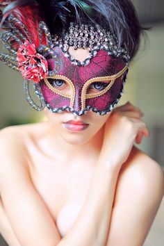 Hoping for dystopia — Masquerade by Jason Matthew Tye Beyond The Mask, Venetian Carnival Masks, Red Mask, Mysterious Girl, Female Mask, Mask Girl, Hidden Beauty, Masquerade Party, Masquerade Masks