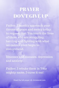 PRAYER - DON'T GIVE UP