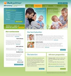Babysitter Nanny Website Templates by Glenn