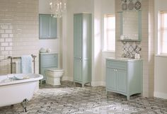 The Utopia Bathroom Group has underlined its British bathroom credentials with the launch of a new collection to celebrate 25 years of manufacturing bathroom furniture. Duck Egg Blue Bathroom, Blue Bathroom Vanity, Small Bathroom, Bathroom Ideas, Blue Vanity, Bathroom Pics, Bathroom Inspo, Bathroom Vanities, Bathroom Corner Unit