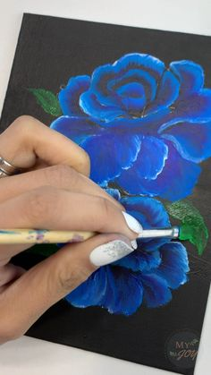 Acrylic Painting Flowers, Paintings Of Flowers, Painting Flowers Tutorial, Watercolor Paintings, Acrylic Painting Tutorials, Art Painting Gallery, Painting Pictures, Art Drawings Sketches Simple, Diy Canvas Art