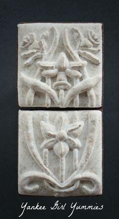 Daffodil flower cookie tiles. Yankee Girl Yummies