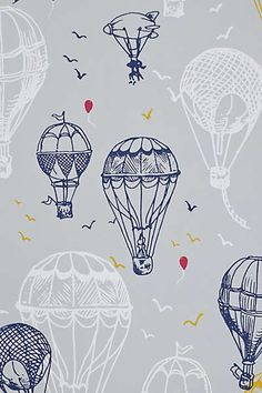 Anthropologie - Hot Air Balloons Wallpaper if I ever have a boy, this will be on his walls