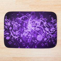 Music Notes, Soap Dispenser, Colorful Backgrounds, Bath Mat, Glow, Art Prints, Printed, Purple, Bed