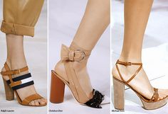 Spring/ Summer 2016 Shoe Trends: Shoes with Block Heels  #shoes #trends #SS16