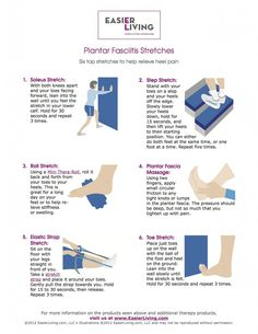 stretches for plantar fasciitis | Ouch! What's that Morning Heel Pain? | The EasierLiving Blog
