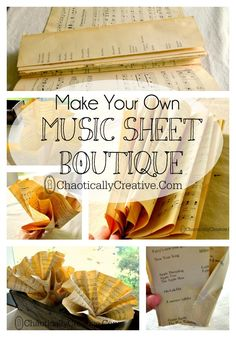 Make your own Music Sheet Boutique
