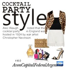 """Cocktail Party Style"" by avon-capital-federal-argentina ❤ liked on Polyvore featuring Chanel, Gianvito Rossi, Valentino, Thalia Sodi, Zizzi and Avon"