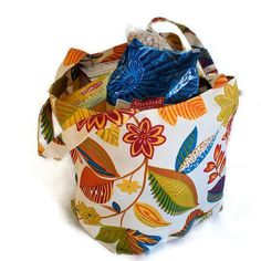 One of a kind Reusable Grocery Tote Bag by BagsAndPursesbyBeth