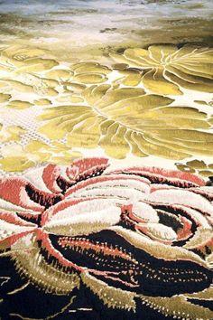 Tai Ping - Designer's Days - Hong Kong - Paris - New York - Tapis - 1956 - Décoration - Motifs - Vert - Feuille - Rouge - Blanc - APR