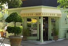 """""""Bouchon Bakery & Café"""" with Chef-owner Thomas Keller is a French bistro and bakery in Yountville, California, serving traditional fare amid elegant, old-world surrounds. Thomas Keller is also the owner of """"The French Laundry"""" and """"Ad Hoc"""" in Yountville. Shop Facade, Wine Guide, California Wine, Shop Fronts, Napa Valley, Wine Country, Places To Eat, The Fresh, Wine Recipes"""
