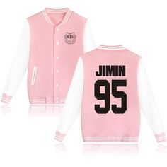 Moletom BTS Bangtan Boys Baseball Uniform Fleece jacket Women Men BTS KPOP v jin jimin suga Long Sleeve Pink Hoodie Sweatshirts Bts Hoodie, Hoodie Sweatshirts, Hoody Kpop, Sweater Hoodie, Hoodies, Jacket Outfit, Pink Jacket, Striped Jacket, Jacket Men