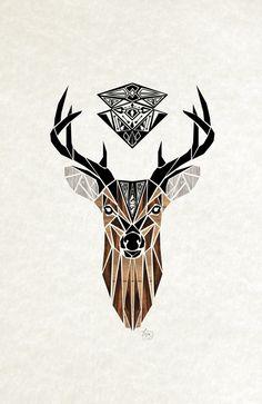 oh deer! by manou art, via Behance
