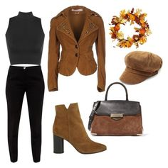 """J"" by ena07-dlxx ❤ liked on Polyvore featuring Nolita De Nimes, Ted Baker, Maje, Alexander Wang and WearAll"