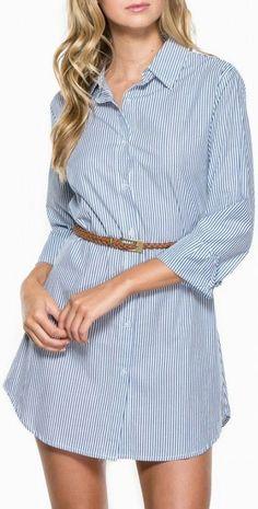 #DIY Men Shirt to Woman Dress ♡ love this idea .. cute & comfy!