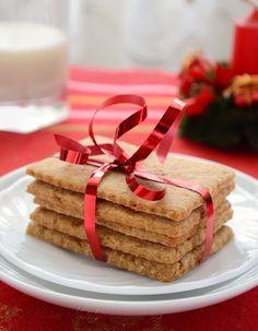 Homemade Graham Crackers - surprisingly easy  to make; recipe from kitchennostalgia.com